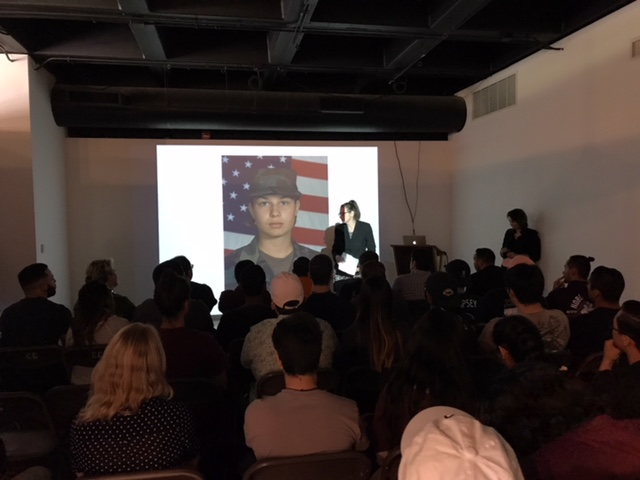 Amber Hoy's October 2018 presentation at Cypress College Art Gallery