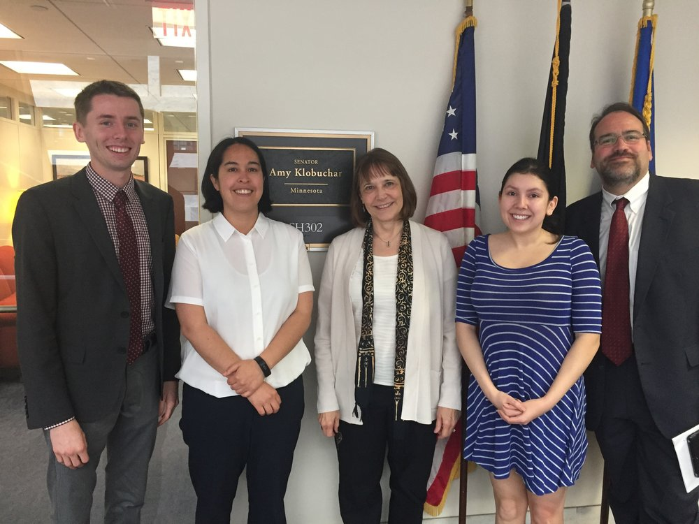 MACS 2020 with U.S. Senator Amy Klobuchar's office.