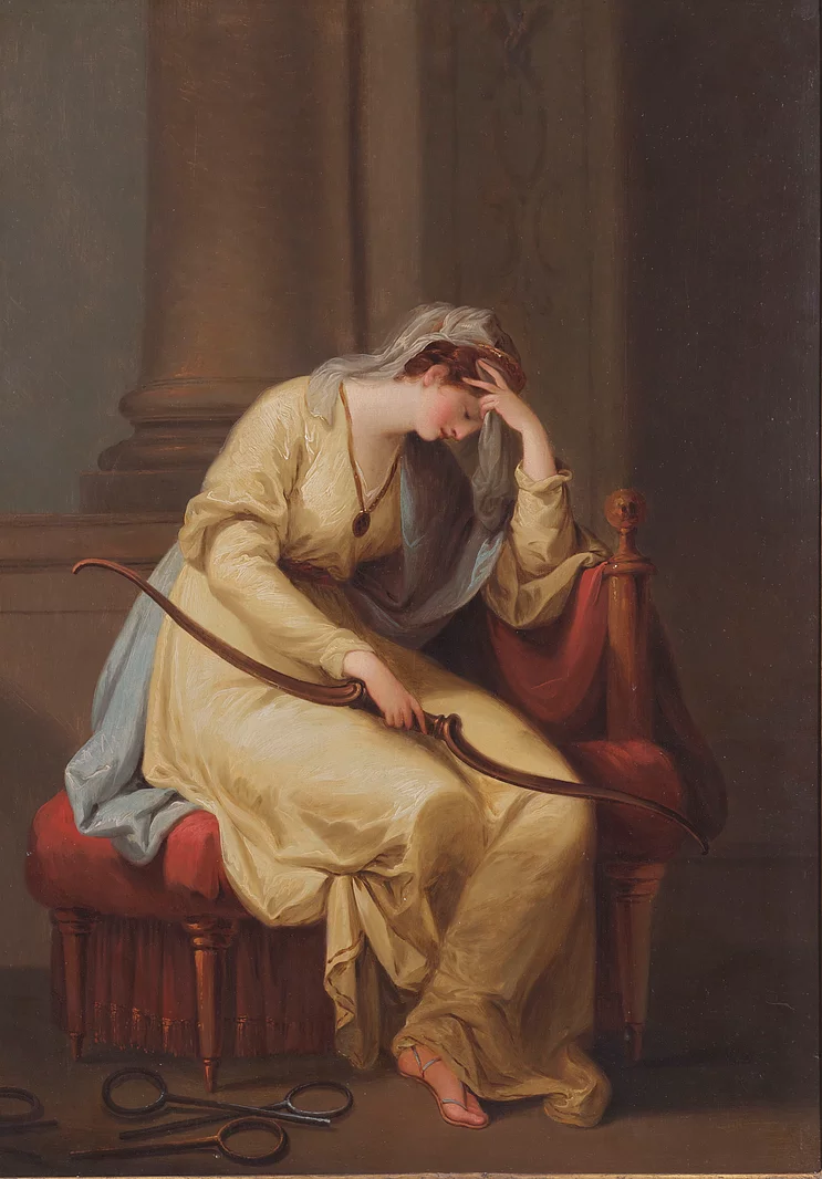 Penelope weeping over the bow of Ulysess (Left), Angelica Kauffmann, 1779 -