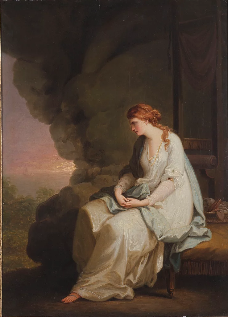 Calypso mourning over the departure of Ulysess (Right), Angelica Kauffmann, 1779 -