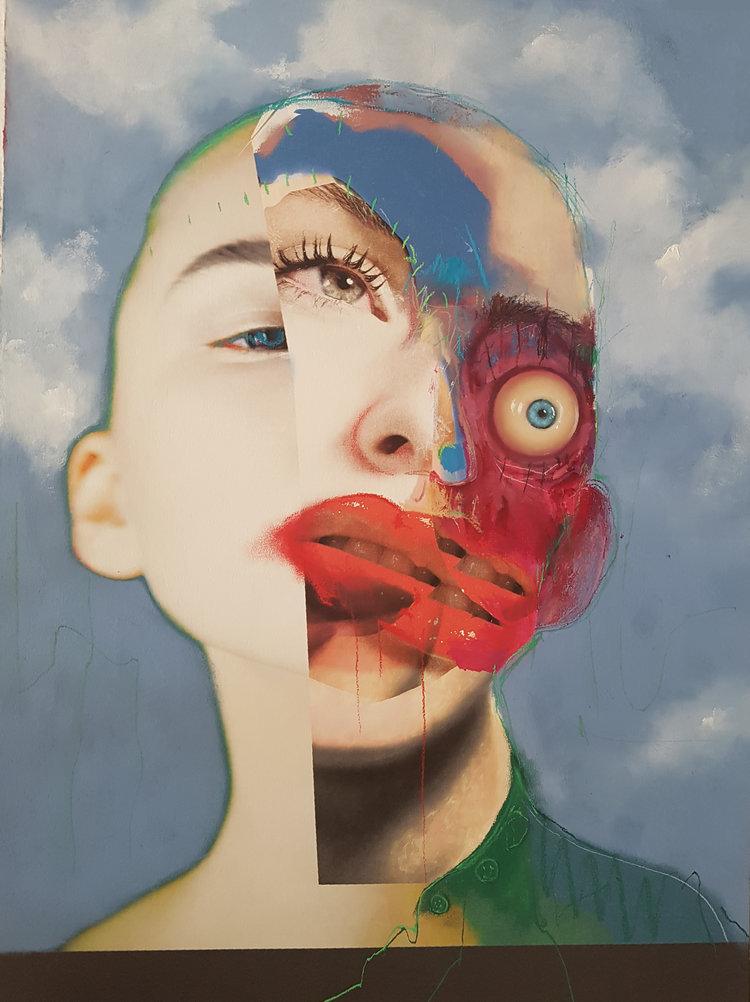 abstract portraits colin edward murray