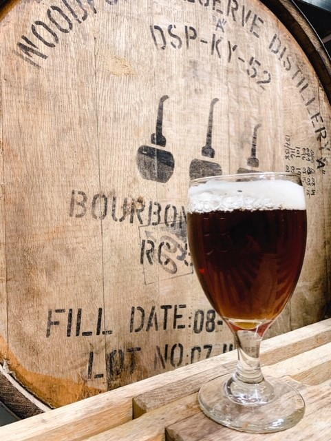 Queen of the Wood - our Gwendolen Barleywine, aged one year in Woodford Reserve Bourbon barrels13.4% ABV 73 IBU