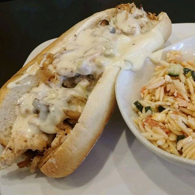 What to do during #snowpacalypse? Enjoy a melty Philly chicken cheese steak and a few hearty brews. We promise, it's way better than shoveling.