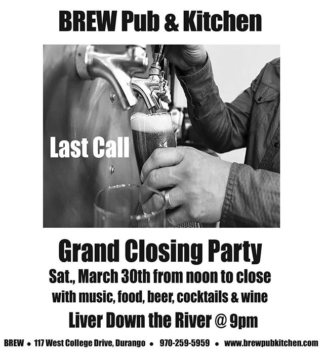 Hey friends: please join us for last call on Saturday as we have one last grand party. Looking forward to seeing you all.