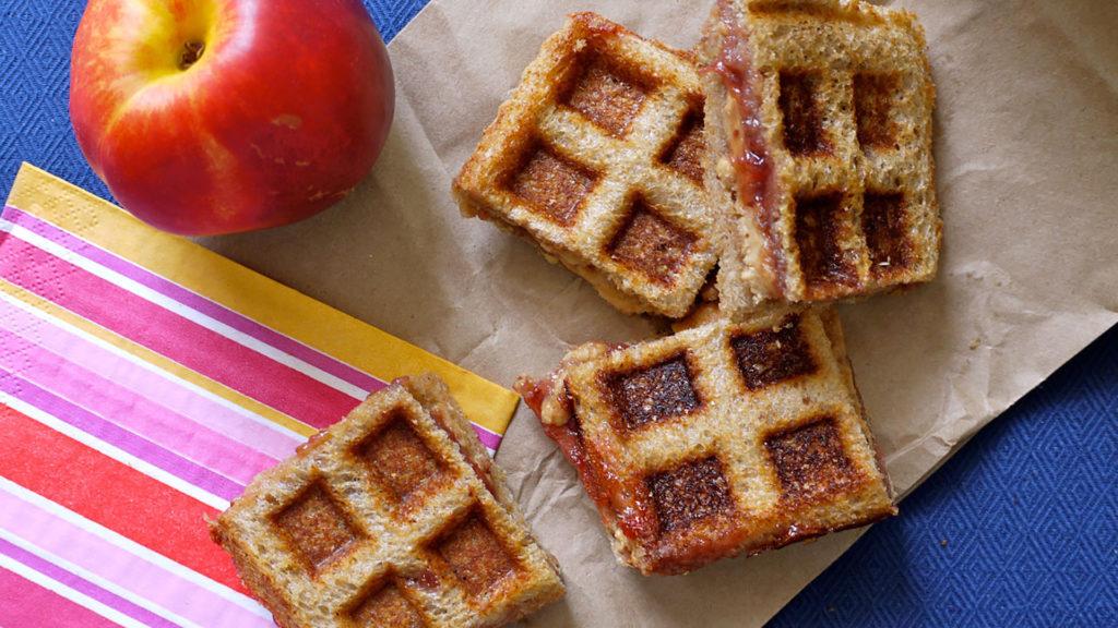 Peanut Butter & Jelly Waffle Sandwich