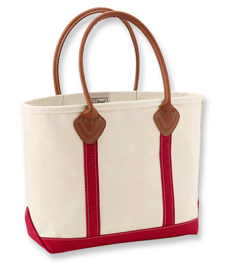 red-stripe-leather-handle-tote