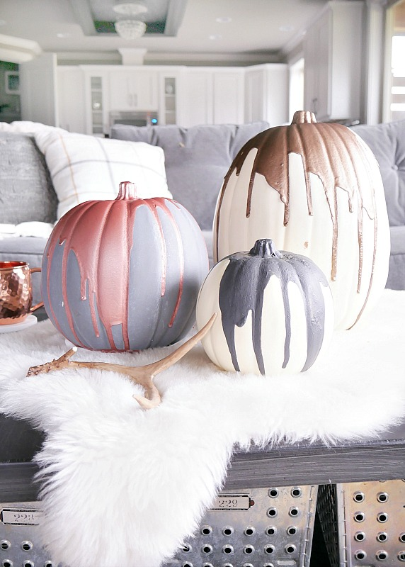 metallic-painted-pumpkins