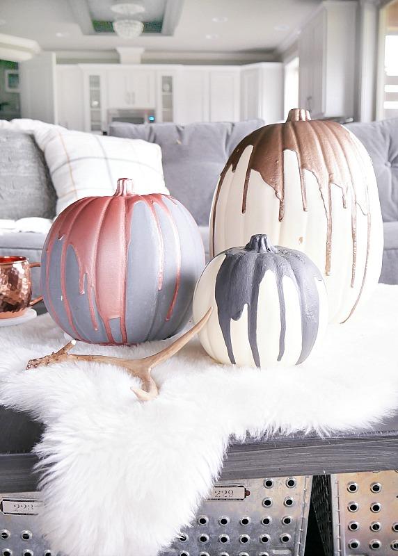 metallic-painted-pumpkins