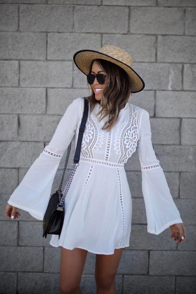 Gypsy Tan White Dress