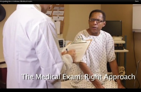 Photo:  Clip from the  Preparing your Client for a DME Exam DVD 2012 Trial Guides .  Co-Produced by Guenther Prod and Yours Truly.  Patient - my friend, lawyer Ed Moore.  Doctor - my friend, lawyer and chiropractor Aaron DeShaw.