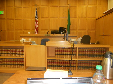 Photo:  Judge A's courtroom in Wenatchee, WA