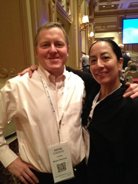 Photo: Kevin O'Keefe and I at the conference.
