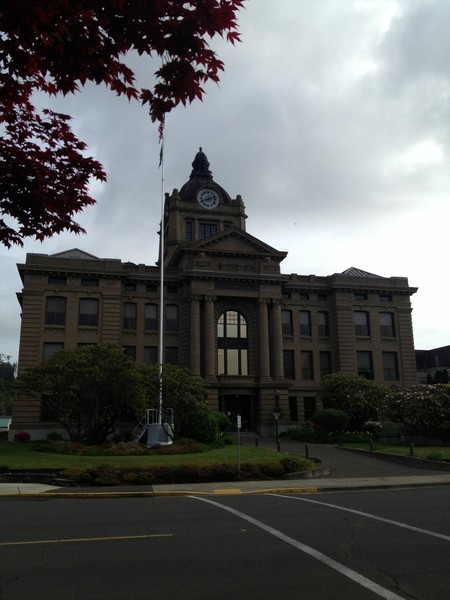 Photo:  This beautiful courthouse is the Grays Harbor Superior Court building.  The Snohomish County Courthouse is the opposite of beautiful.