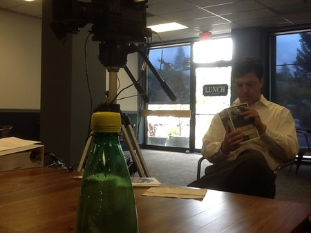 Photo: The videographer hanging with me during the lunch break.