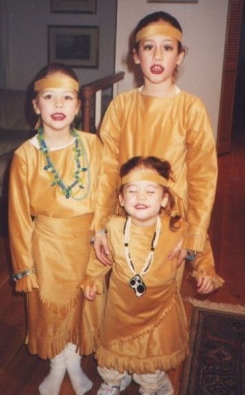 Photo:  The girls as Pocahontas on Halloween a long time ago... And why is it being used to illustrate this post you wonder...Because (as I'm sure you will agree) it's so cute of course.
