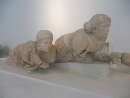 Photo:  Two broken statues in a museum in Olympia Greece.  They could have used a protective order.