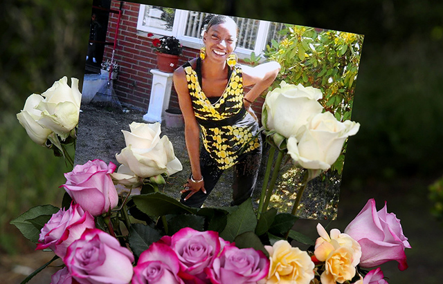 A makeshift memorial for Charleena Lyles, who was fatally shot by Seattle police. (Seattle Times file