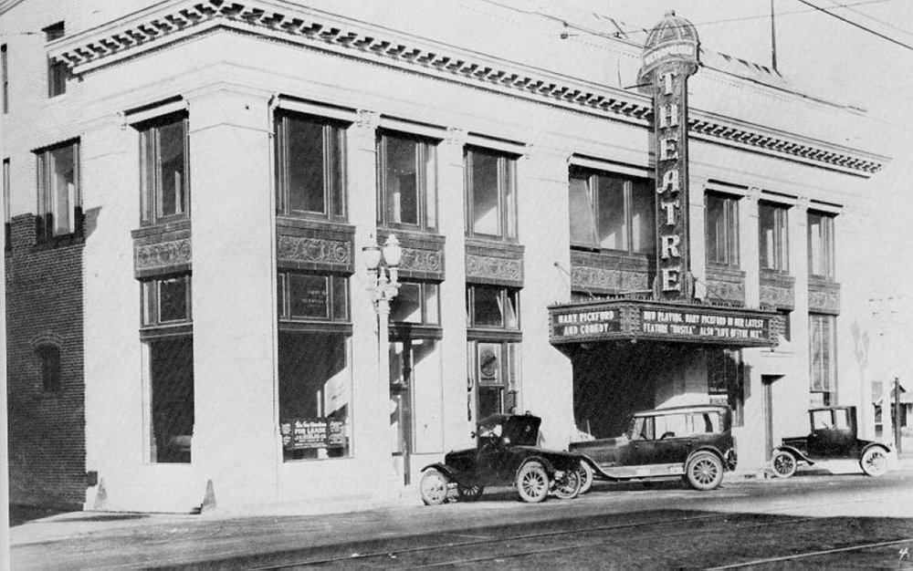 - View of building's exterior from the 1920's
