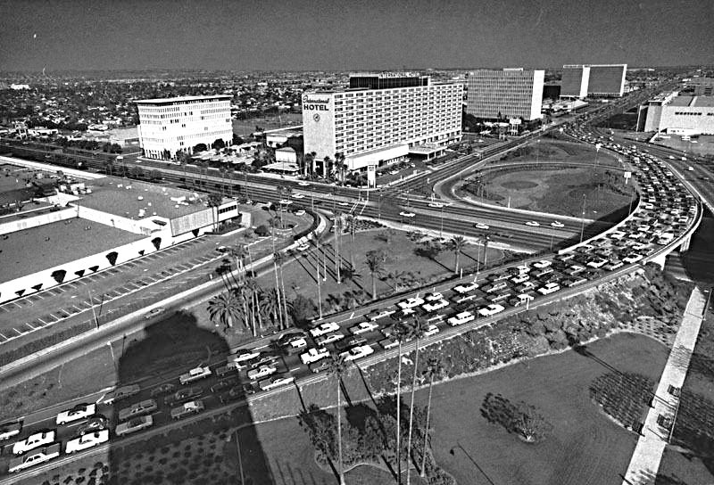 - Property shortly immediately after construction.  The photo was taken from the LAX control tower (now relocated)