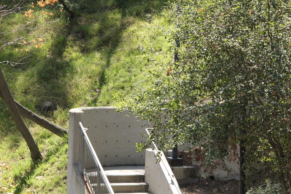 - A portion of the added stair installed at the west side of the Bowl.