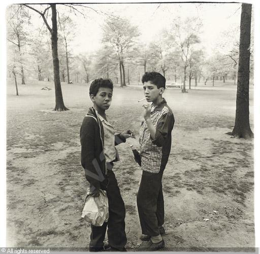 'Two Boys Smoking in Central Park,' by Diane Arbus