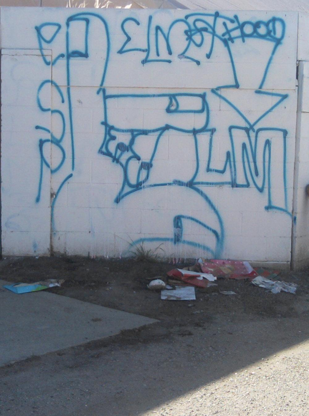 גרפיטי של כנופיית רחוב בברוקלין