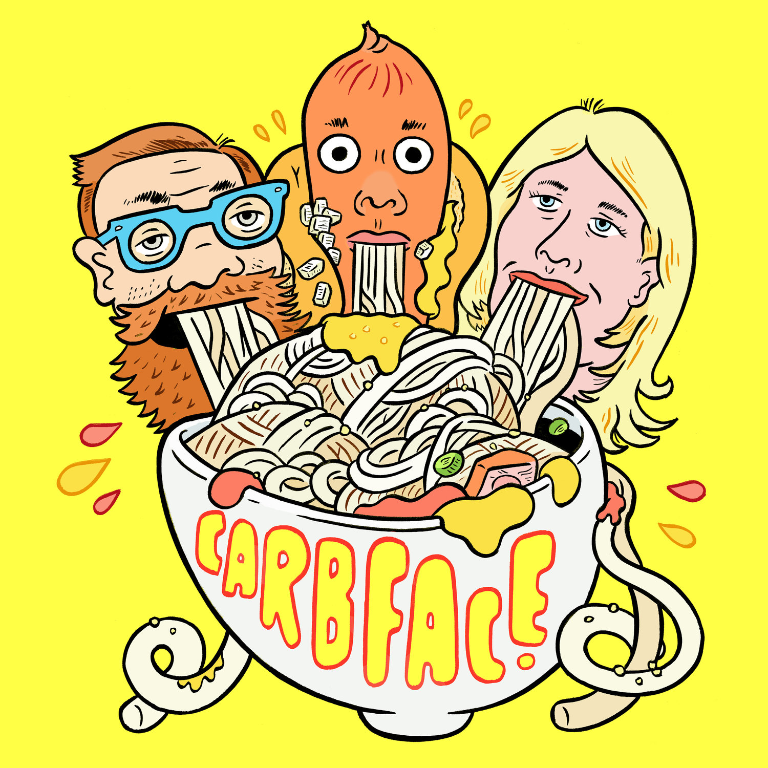 Carbface for Radio Podcast with Laurie and Chris