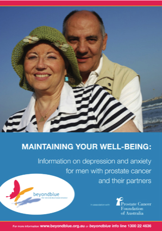 Maintaining your well being - Information on depression and anxiety for men with prostate cancer and their partners.