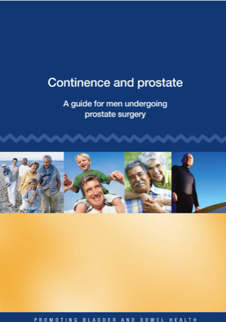 Continence and prostate - A guide for men undergoing prostate surgery