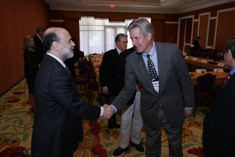 Private luncheon with FED Chairman Ben Bernanke
