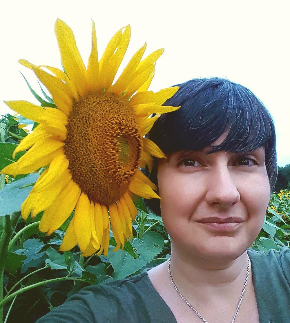 Alicia Among Sunflowers