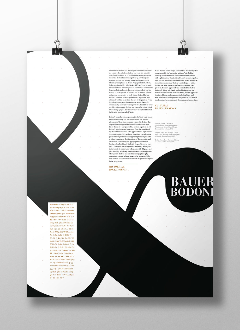 Bodoni Poster: Informational Side