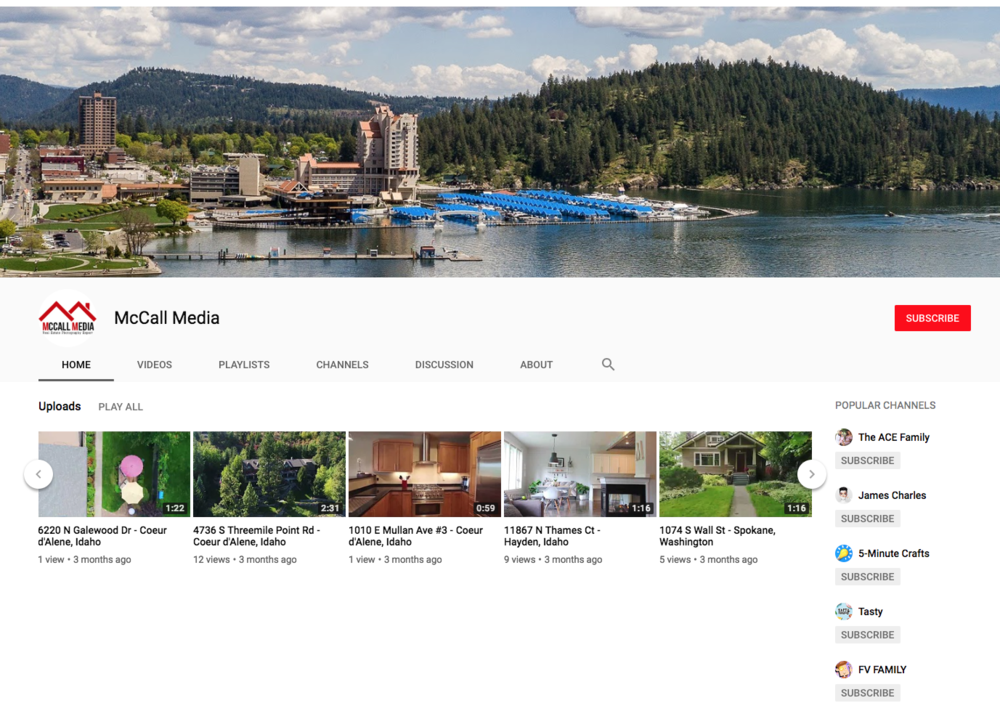 Check out our  YouTube Channel  for real estate video examples!