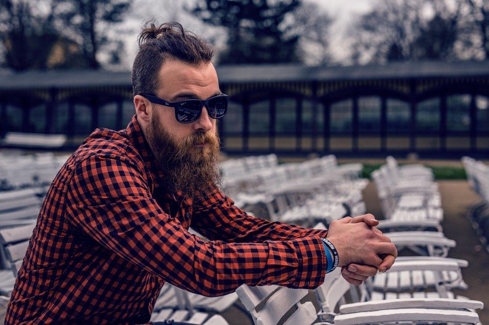 Trendy lad with beard