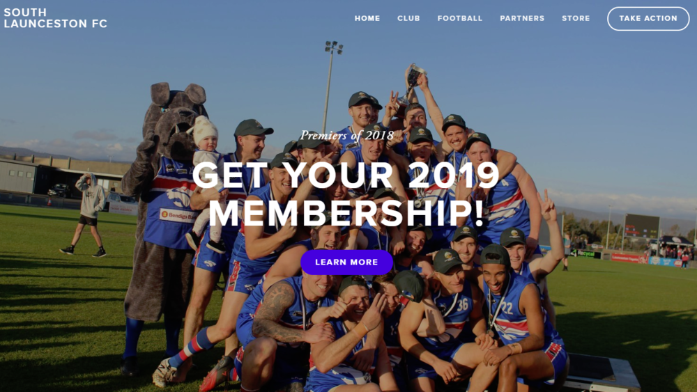 website design south launceston football club