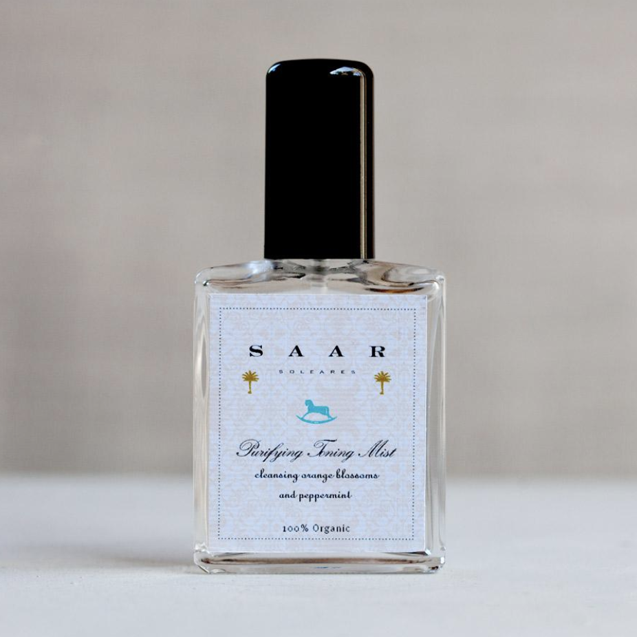 Purifying Toning Mist with Orange Blossom, available at  w  ww.saarsoleares.com