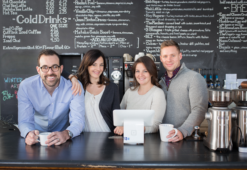 (From left to right) Owners Scott Robinson, Alix Gilman, Adrienne Squires, Evan Squires