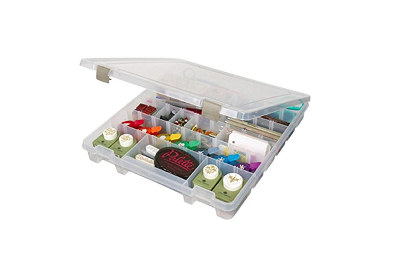 Tackle Box - These tackle boxes come in a range of sizes. This smaller box is perfect for smaller objects - everything from batteries to buttons. Keeping like for like objects together means you can easily find what you need. Plus you can arrange the dividers to make the spaces inside the perfect size. Check them out here.