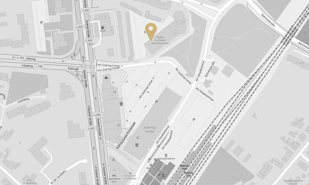 Mit einem Klick auf die Karte verlassen Sie die Website von Zurheide Feine Kost und gelangen zum externen Routenplaner von Google Maps, maps.google.de. Wir geben keine personenbezogenen Daten weiter, jedoch können auf der Zielseite entsprechend Daten von Google verarbeitet werden.| (Kartendaten von  OpenStreetMap - Veröffentlicht unter  ODbL )
