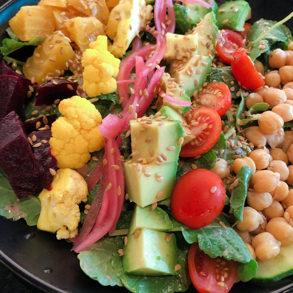 Glam Vegan Miami - Baby Kale Cobb Salad