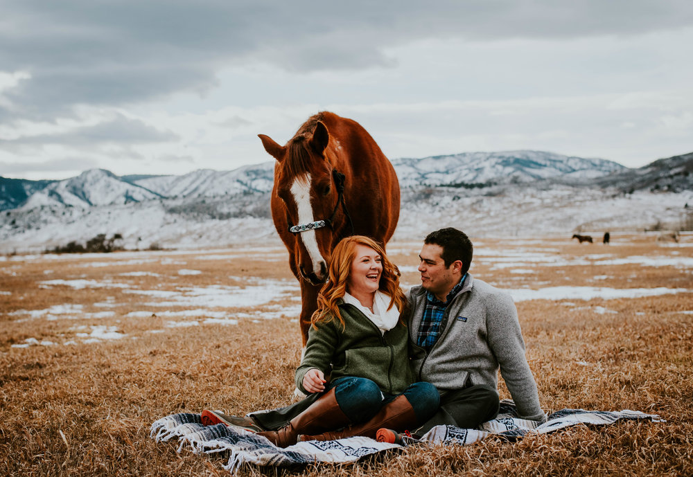 Miss. Miller's Photography | Engagement Photos | Candid | Rocky Mountian Bride