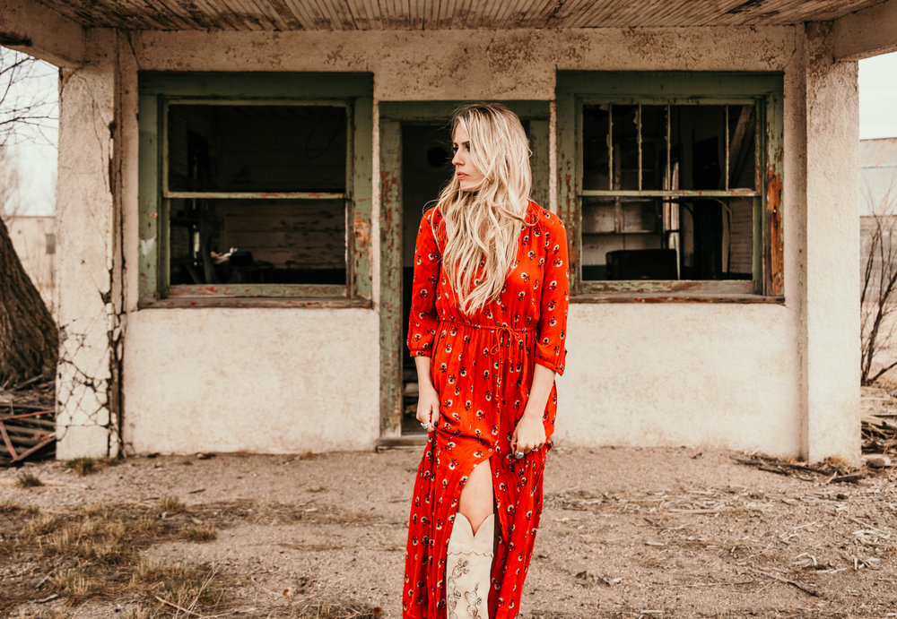 Miss. Miller's Photography | Western boho red spring dress | spring dress | western fashion dress | tall western boots | fashion western boots | Western Couture | Western boutique