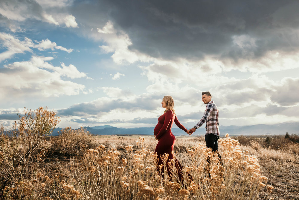 Miss. Miller's Photography | Maternity Photos | rocky mountains | mountain maternity session | maternity photo ideas | red maternity dress | dirty boots and messy hair presets | Denver photographer | Colorado Photographer