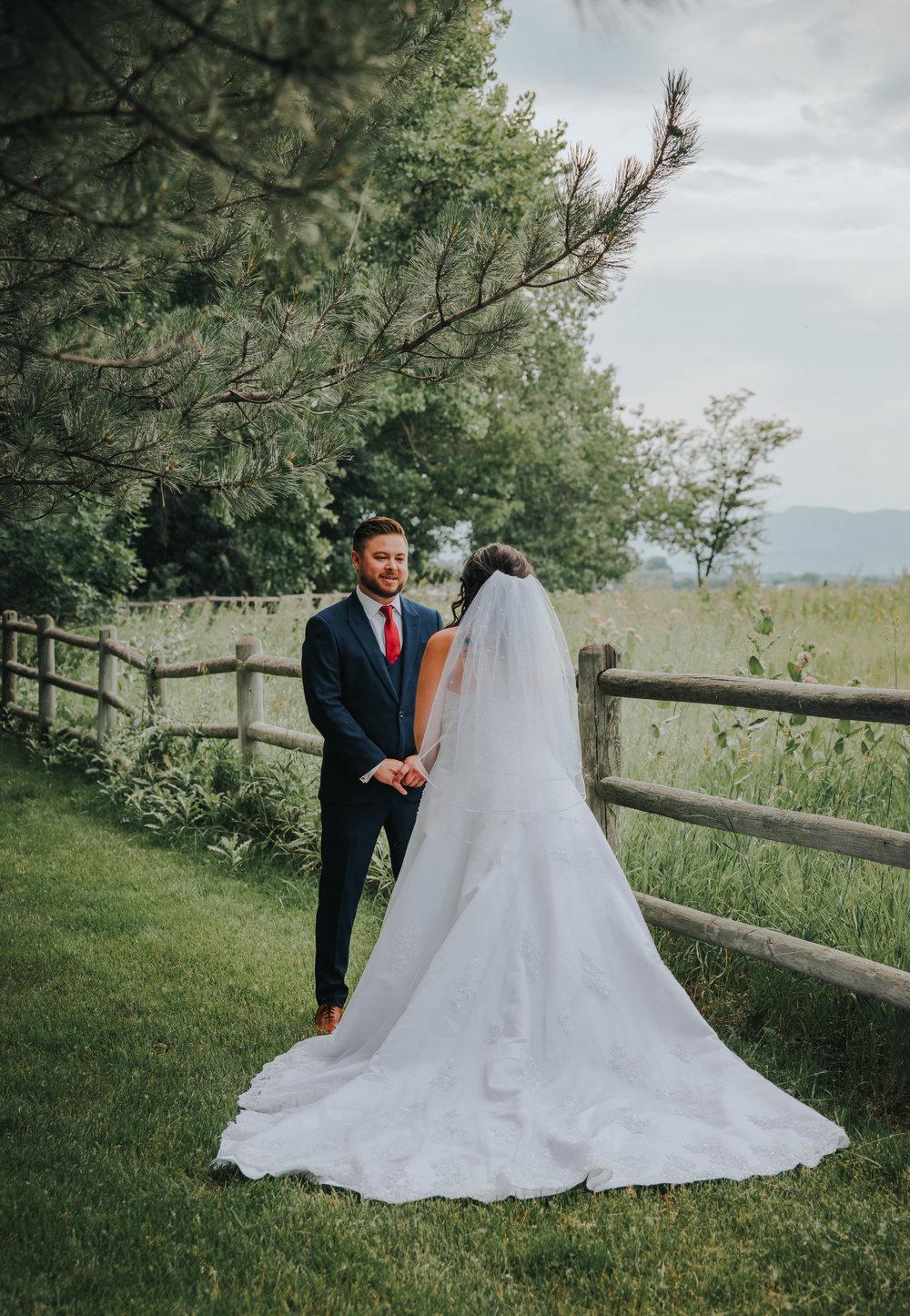 Colorado Wedding Photographer | Miss. Miller's Photography | First Look Wedding Photos