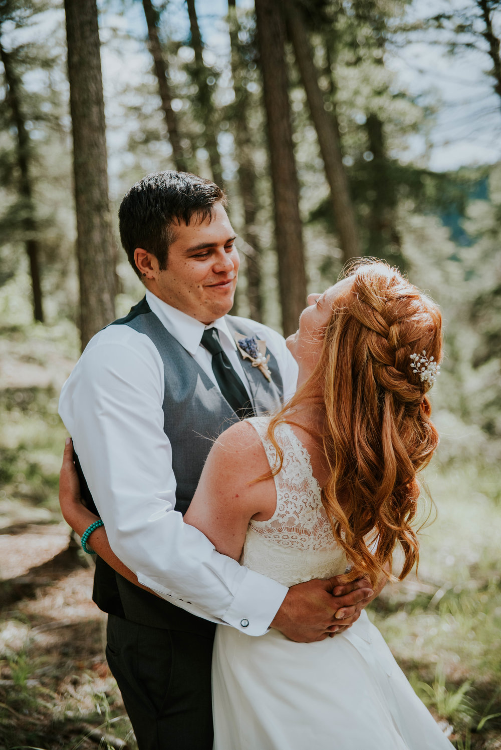 whether it's a private moment between bride and groom -