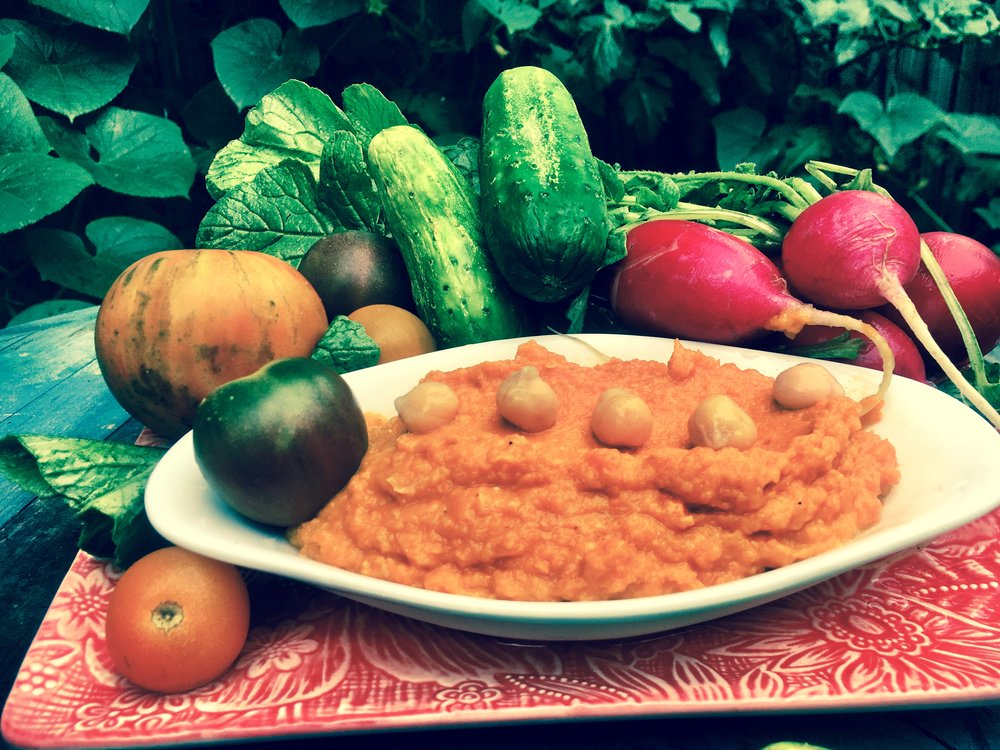 Ozark Carrot and Chickpea Dip