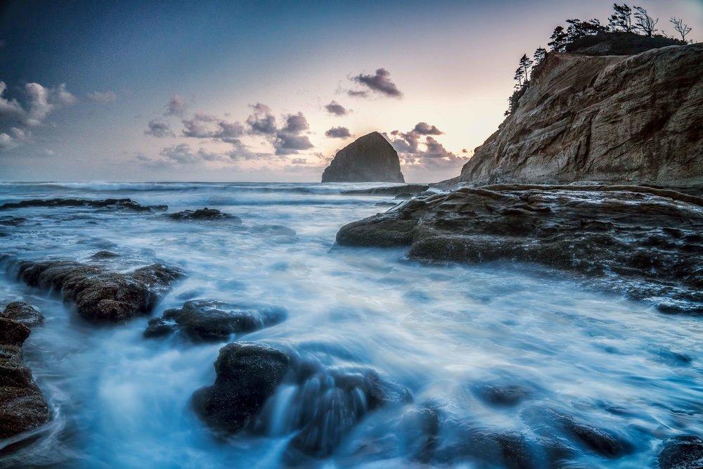 Haystack Rock Sunset  Cape Kiwanda, Oregon Coast