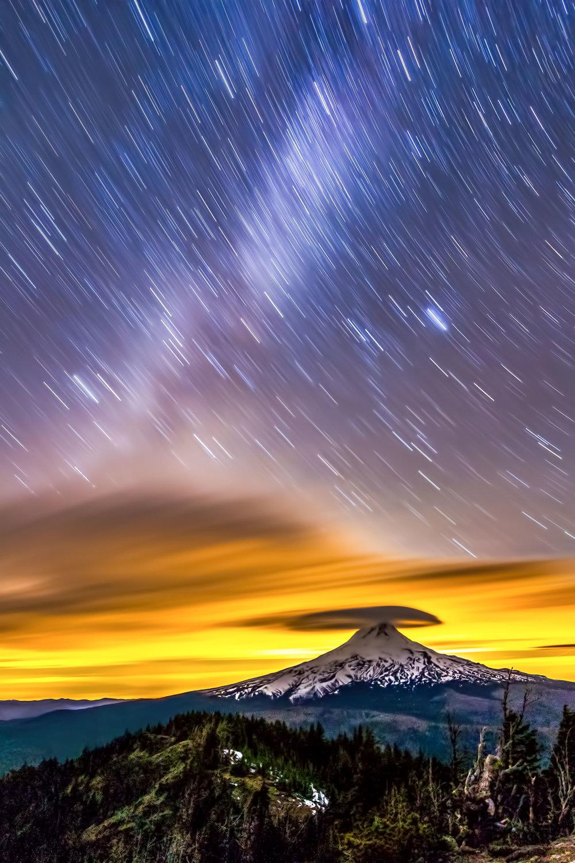 Volcano Dusk  Mount Hood, Oregon