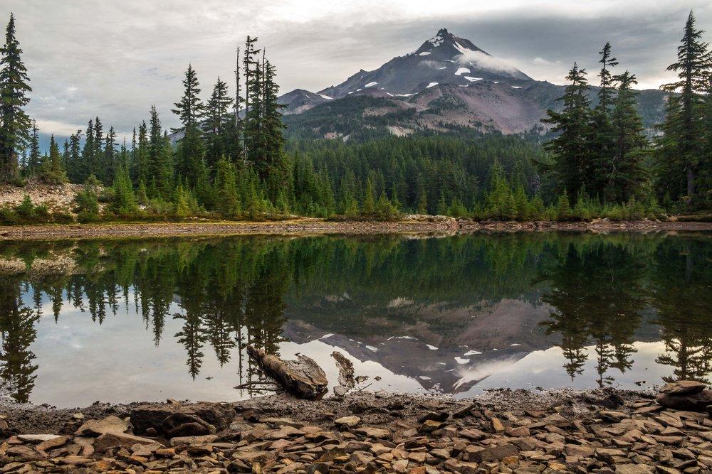 Shale Lake Reflection  Mount Jefferson, Oregon