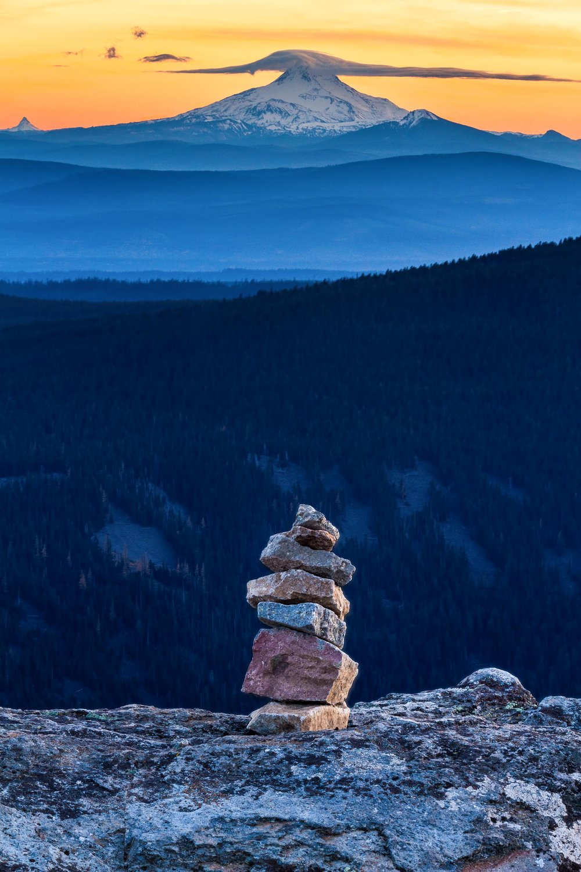 Lookout Cairn  Mount Jefferson, Oregon